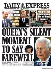 Daily Express () Newspaper Front Page for 16 April 2021