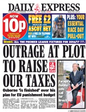 Daily Express () Newspaper Front Page for 16 June 2016