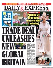 Daily Express () Newspaper Front Page for 16 June 2021