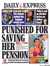 Daily Express (UK) Newspaper Front Page for 16 July 2019
