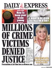 Daily Express (UK) Newspaper Front Page for 16 August 2019