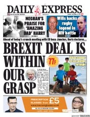 Daily Express (UK) Newspaper Front Page for 16 September 2019