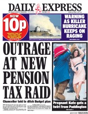 Daily Express (UK) Newspaper Front Page for 17 October 2017