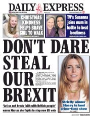 Daily Express () Newspaper Front Page for 17 December 2018