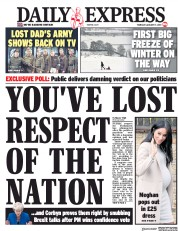 Daily Express (UK) Newspaper Front Page for 17 January 2019