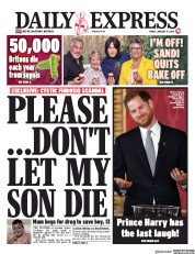 Daily Express (UK) Newspaper Front Page for 17 January 2020