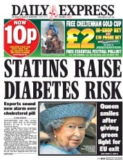 Daily Express (UK) Newspaper Front Page for 17 March 2017