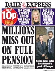 Daily Express (UK) Newspaper Front Page for 17 April 2017