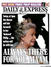 Daily Express front page for 17 April 2021