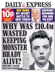 Daily Express (UK) Newspaper Front Page for 17 May 2017