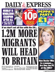 Daily Express (UK) Newspaper Front Page for 17 July 2017