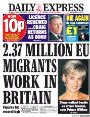 Daily Express (UK) Newspaper Front Page for 17 August 2017