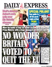 Daily Express (UK) Newspaper Front Page for 17 September 2019