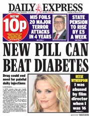 Daily Express (UK) Newspaper Front Page for 18 October 2017