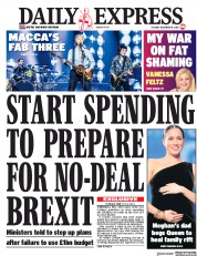 Daily Express (UK) Newspaper Front Page for 18 December 2018
