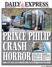 Daily Express (UK) Newspaper Front Page for 18 January 2019