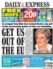 Daily Express (UK) Newspaper Front Page for 18 February 2017