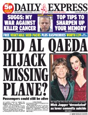 Daily Express (UK) Newspaper Front Page for 18 March 2014