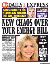 Daily Express Newspaper Front Page (UK) for 19 October 2012