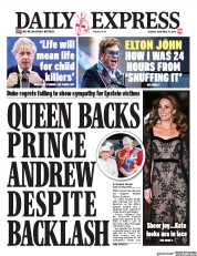 Daily Express (UK) Newspaper Front Page for 19 November 2019