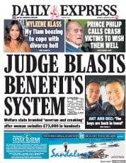 Daily Express (UK) Newspaper Front Page for 19 January 2019