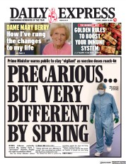 Daily Express front page for 19 January 2021