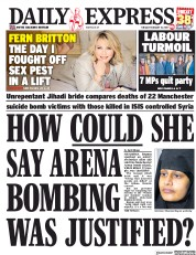 Daily Express () Newspaper Front Page for 19 February 2019