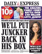 Daily Express (UK) Newspaper Front Page for 19 May 2017