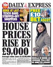 Daily Express Newspaper Front Page (UK) for 19 June 2013