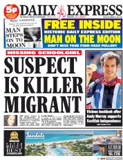 Daily Express (UK) Newspaper Front Page for 19 September 2014