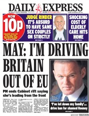 Daily Express (UK) Newspaper Front Page for 19 September 2017