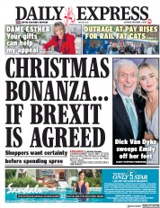 Daily Express (UK) Newspaper Front Page for 1 December 2018