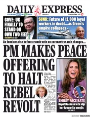 Daily Express front page for 1 December 2020