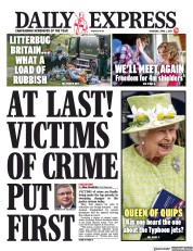 Daily Express (UK) Newspaper Front Page for 1 April 2021
