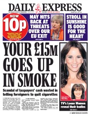 Daily Express (UK) Newspaper Front Page for 1 May 2017