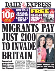 Daily Express (UK) Newspaper Front Page for 1 June 2016