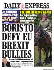 Daily Express (UK) Newspaper Front Page for 1 June 2020