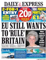 Daily Express (UK) Newspaper Front Page for 1 July 2017