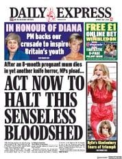 Daily Express (UK) Newspaper Front Page for 1 July 2019
