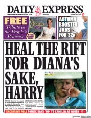 Daily Express () Newspaper Front Page for 1 July 2021