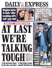 Daily Express (UK) Newspaper Front Page for 1 August 2018