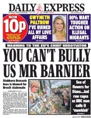 Daily Express (UK) Newspaper Front Page for 1 September 2017