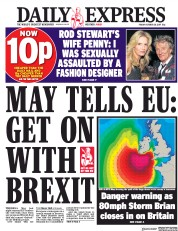 Daily Express (UK) Newspaper Front Page for 20 October 2017