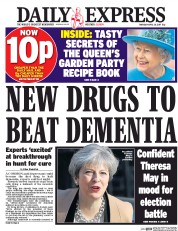 Daily Express (UK) Newspaper Front Page for 20 April 2017