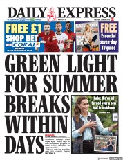 Daily Express front page for 20 June 2020