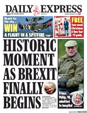 Daily Express (UK) Newspaper Front Page for 21 December 2019