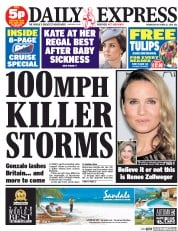 Daily Express (UK) Newspaper Front Page for 22 October 2014
