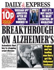 Daily Express (UK) Newspaper Front Page for 22 December 2017