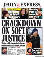Daily Express (UK) Newspaper Front Page for 22 January 2020