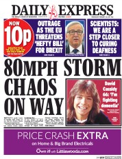 Daily Express (UK) Newspaper Front Page for 22 February 2017